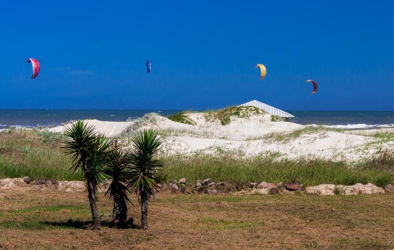 风筝海浪Atlantida巴西 库存图片
