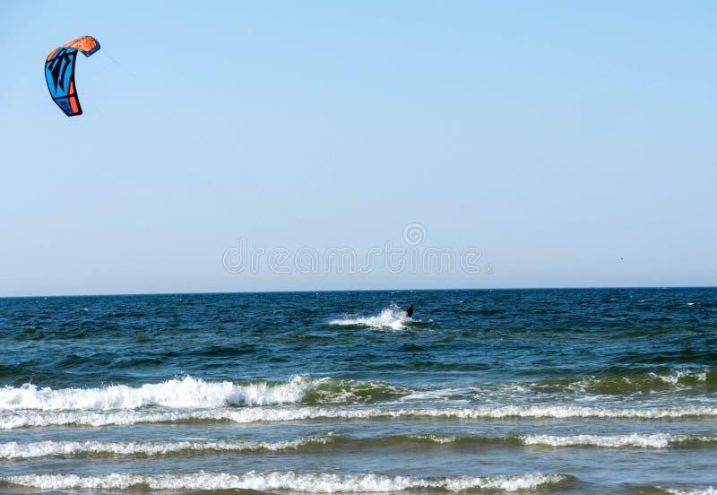 风筝海运冲浪 库存图片