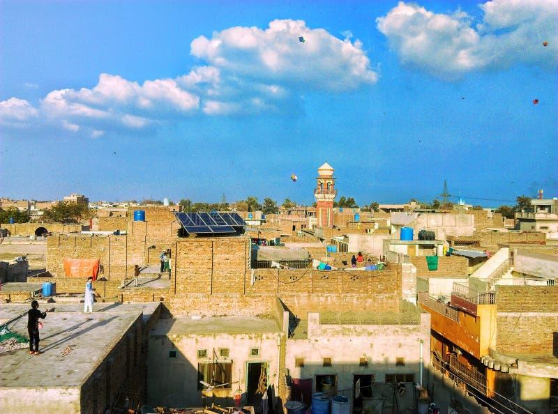 风筝节日巴基斯坦费萨拉巴德 免版税库存照片