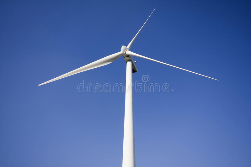 风能涡轮发电站 免版税库存照片