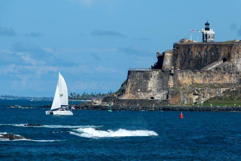 风船和老Suan ` s Morro防御 免版税库存图片