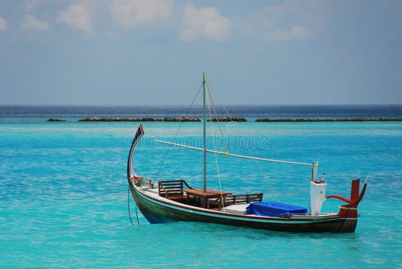 风船在印度洋 图库摄影