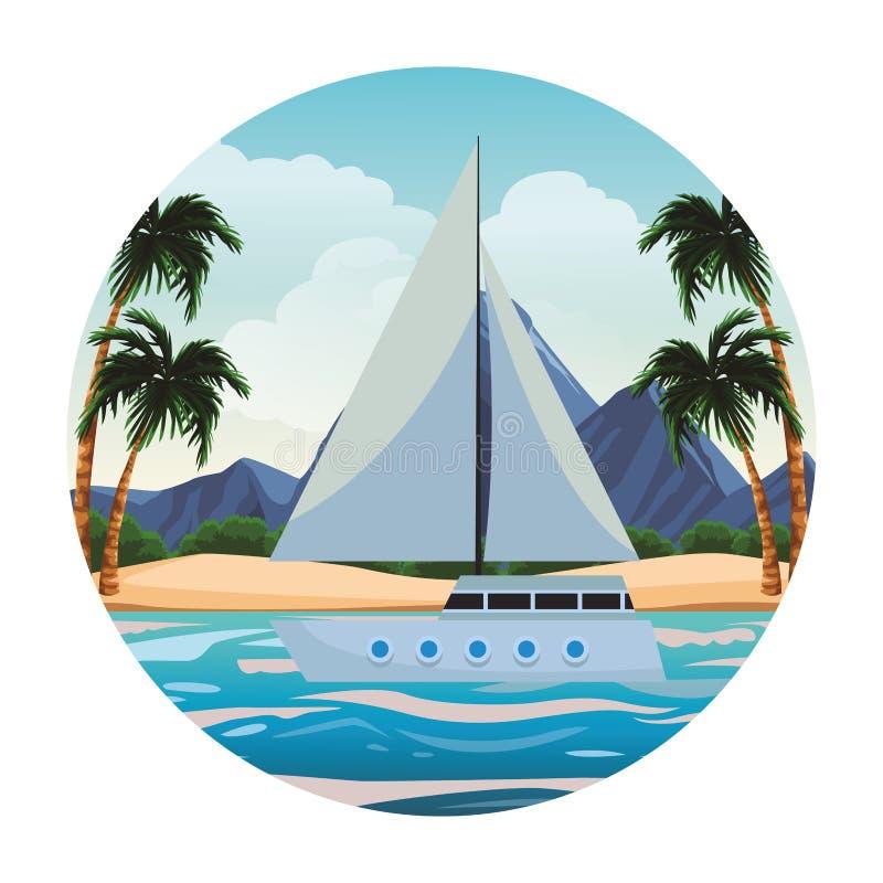 风船在海运 库存例证