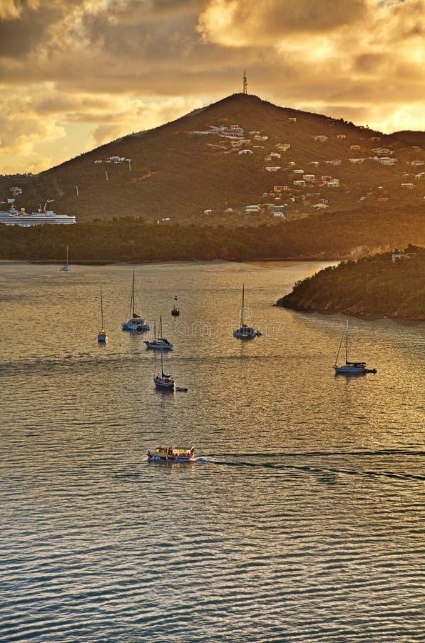 风船在港口 库存照片