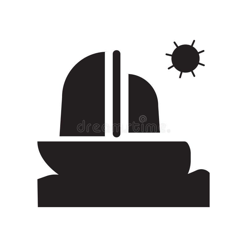 风船在白色背景隔绝的象传染媒介,风船标志,假期标志 库存例证