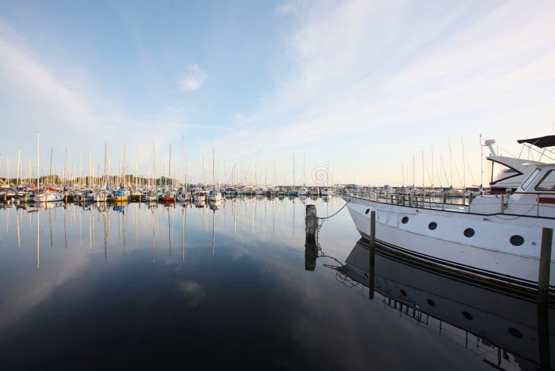 在码头的风船在哥本哈根 图库摄影