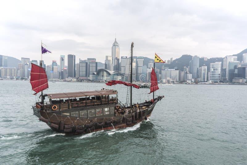 风船在香港 库存照片