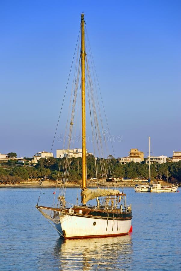风船在Majorca 免版税库存照片