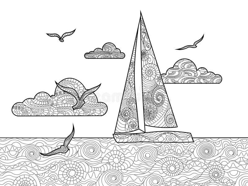风船成人传染媒介的彩图 库存例证