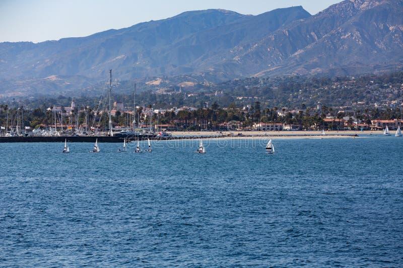 风船线在圣塔巴巴拉 库存图片