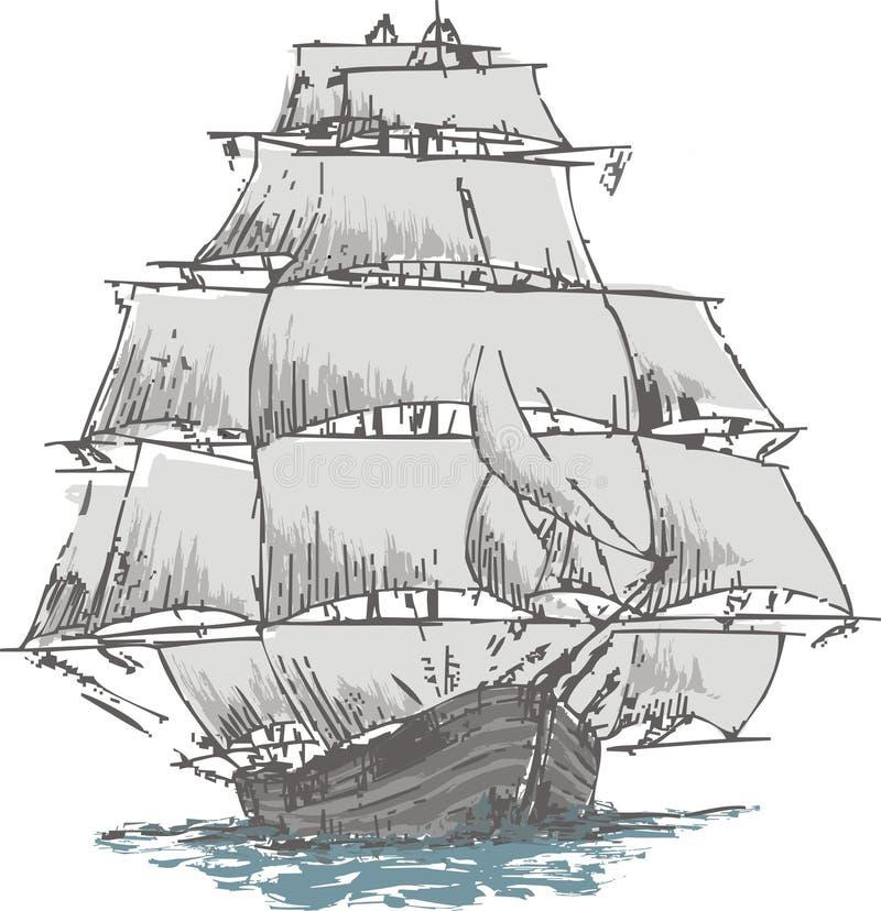 风船 向量例证