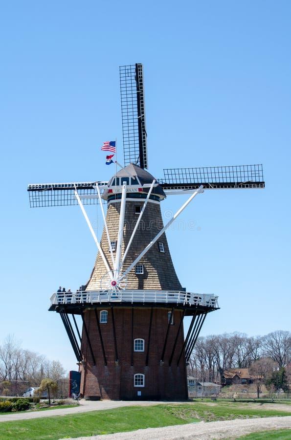风车在荷兰密执安 库存图片