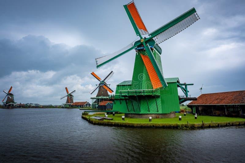 风车在荷兰 库存照片
