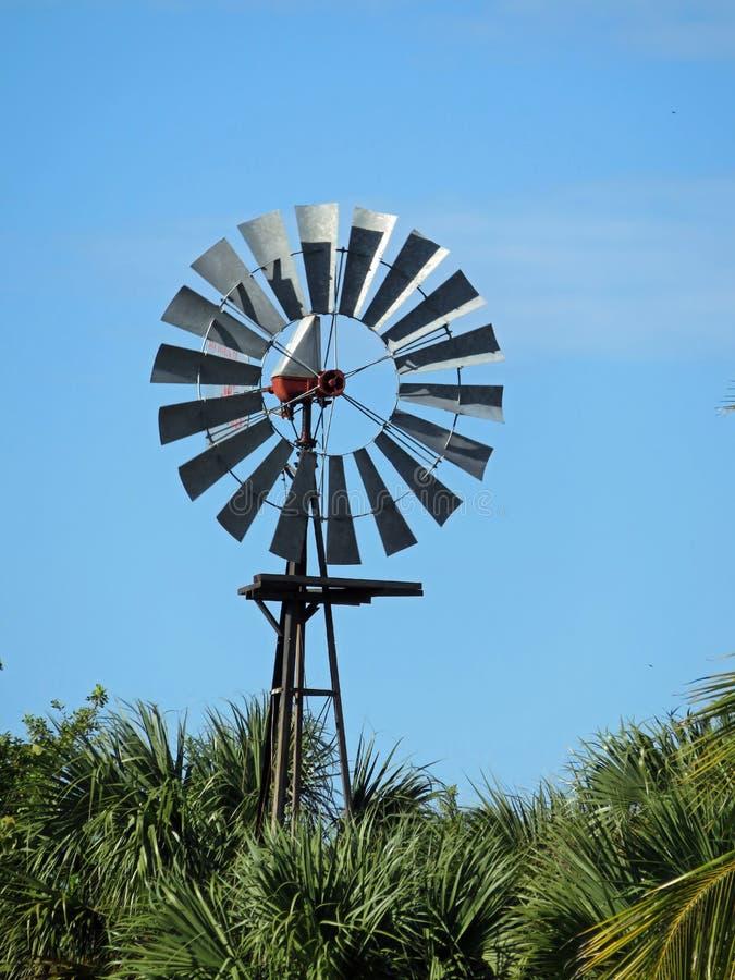 风车在贝里宅基蜜饯在Sanibel佛罗里达 库存照片