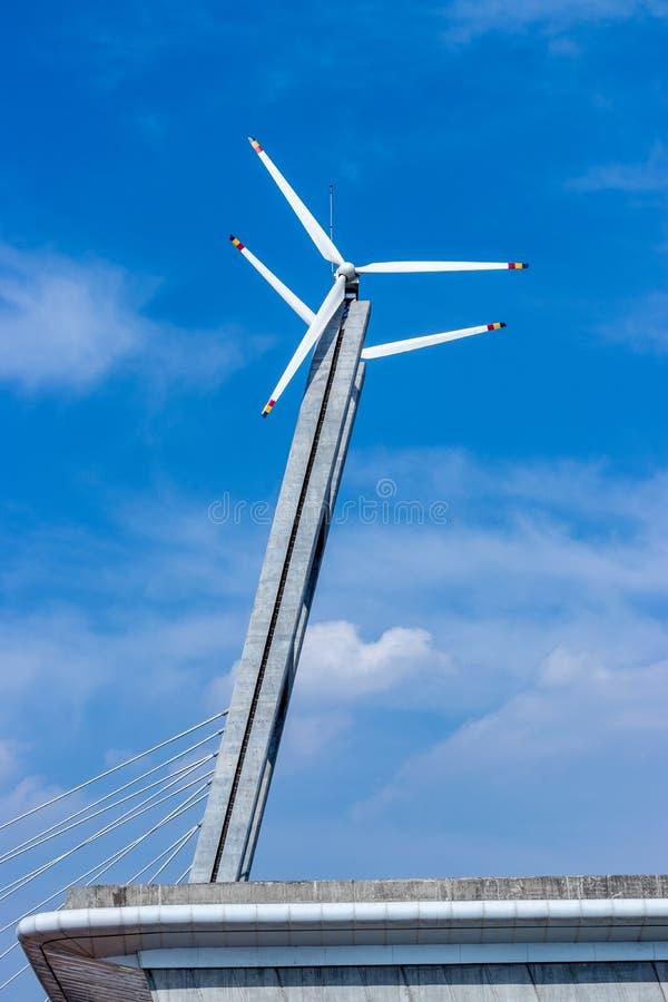 风车,甘地讷格尔,印度 库存照片