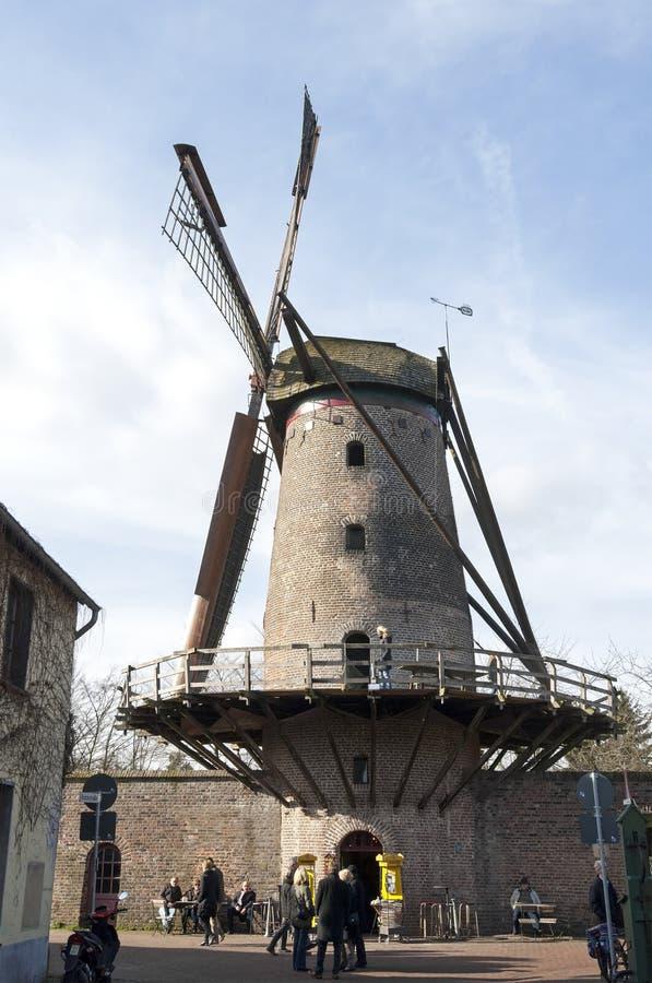 风车Kriemhildemuhle,城市桑腾,德国 库存照片