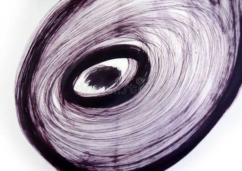 风转弯 发怒的漩涡 自转能量 向量例证