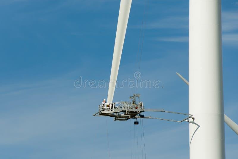 风轮叶片修理 库存照片