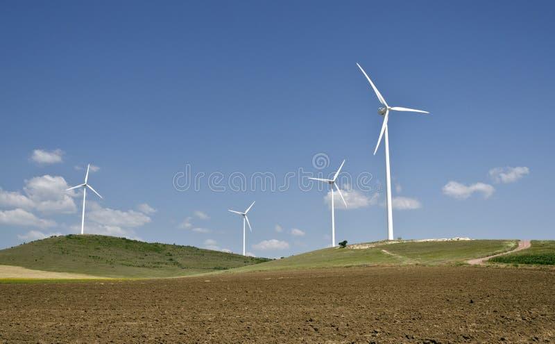 风轮机农场 免版税库存图片