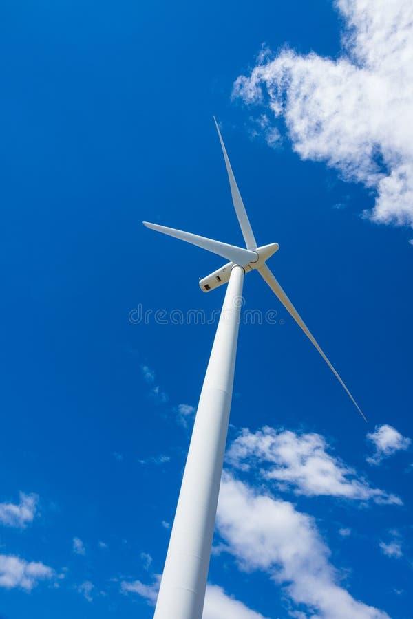 风轮机和麦田在东俄勒冈 图库摄影