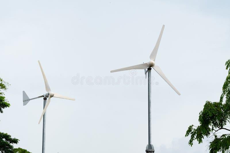 风轮机电力 库存照片