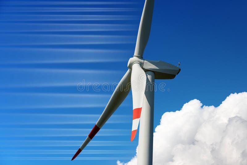 风轮机的特写镜头-可再造能源 图库摄影