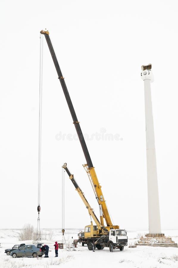 风轮机的设施 免版税库存图片