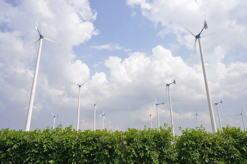 风轮机能源 免版税库存照片