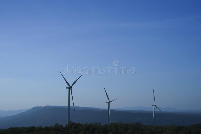 风轮机风能自然风运用了电 免版税库存照片