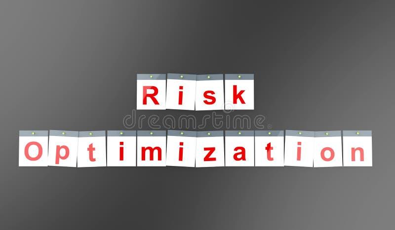 风险在日历的优化词呼叫概念 向量例证