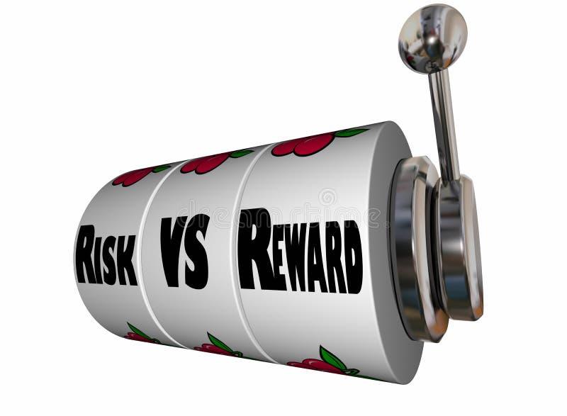 风险对奖励老虎机轮子 向量例证