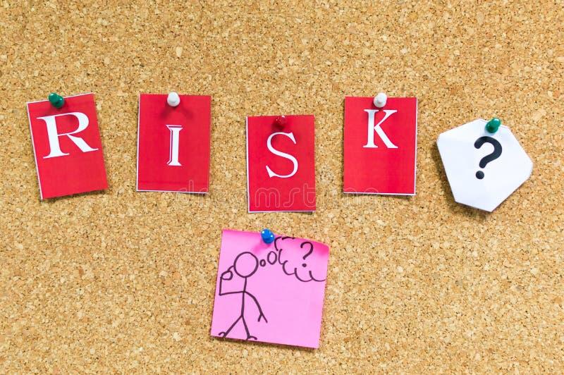 风险或不冒险 免版税库存图片