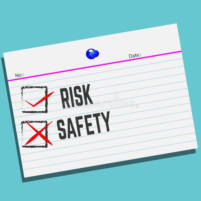 风险或安全在纸与创造性的设计您的贺卡的 皇族释放例证