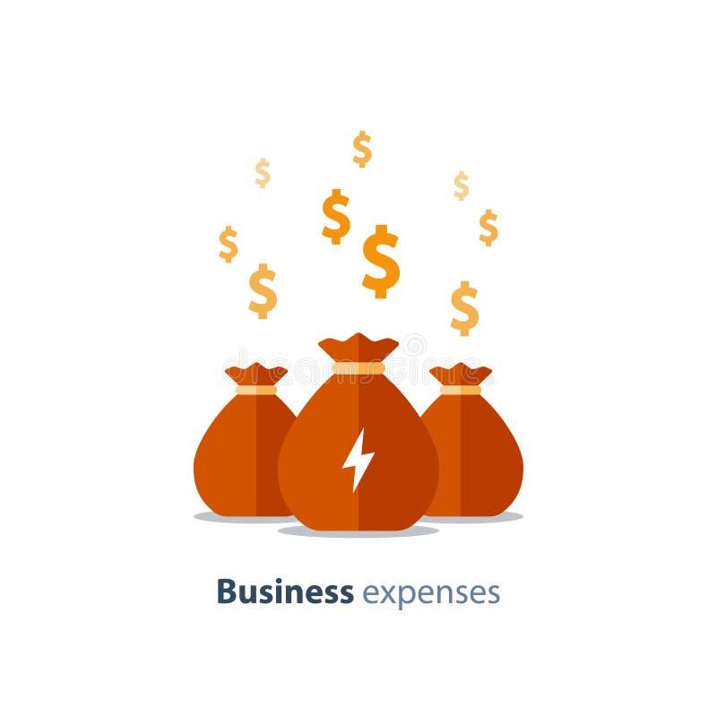 风险投资,筹款的概念,工商业贷款,公司费用,基金,传染媒介象 皇族释放例证