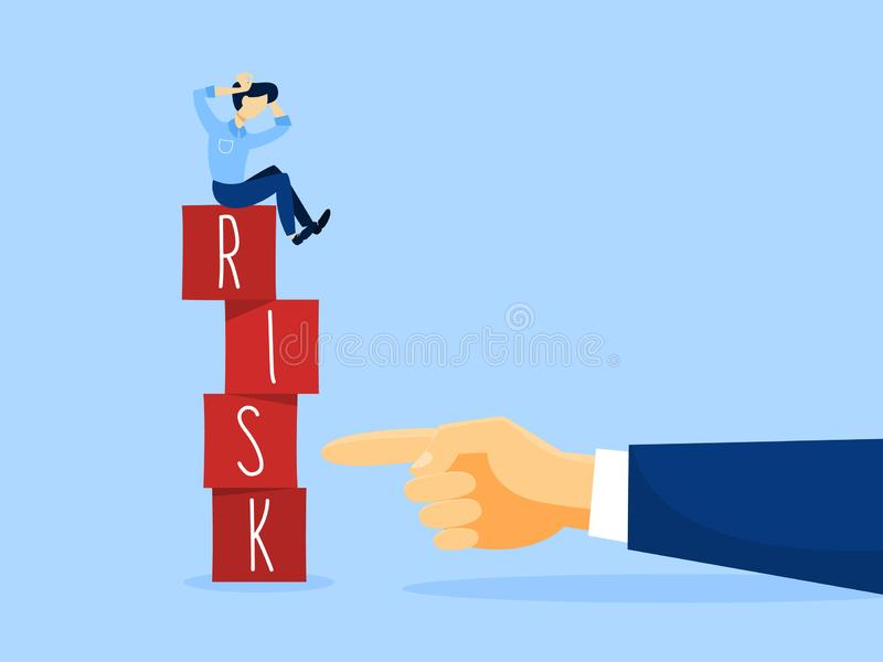 风险概念例证 企业挑战和平衡 向量例证