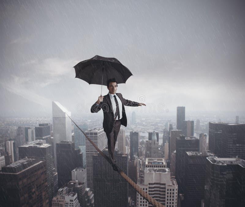 企业生命力的风险和挑战 免版税库存照片