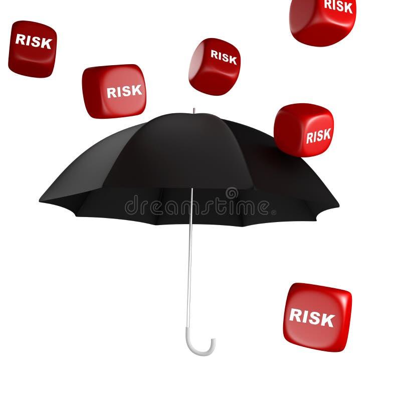 从风险的保险柜 向量例证