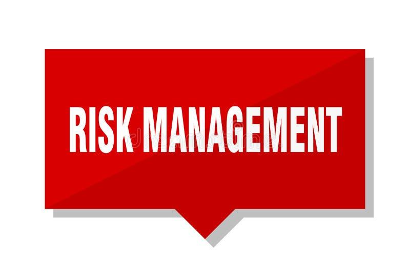 风险管理价牌 库存例证