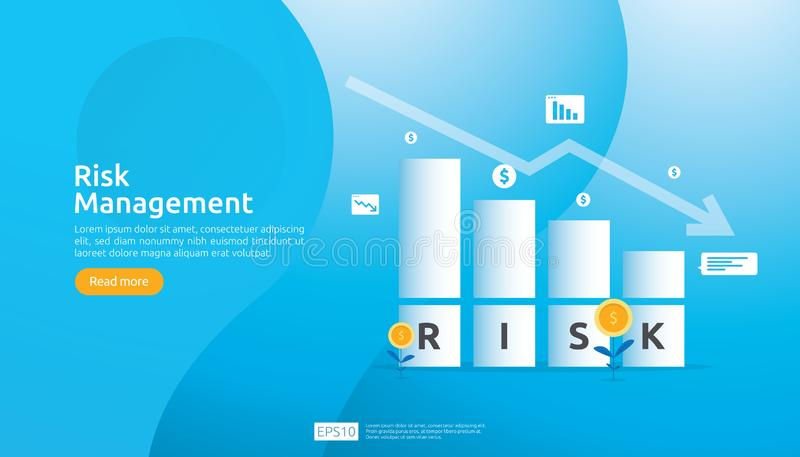 风险管理和财政辨认 在事务的评估和挑战防止的保护 公司性能分析 库存例证