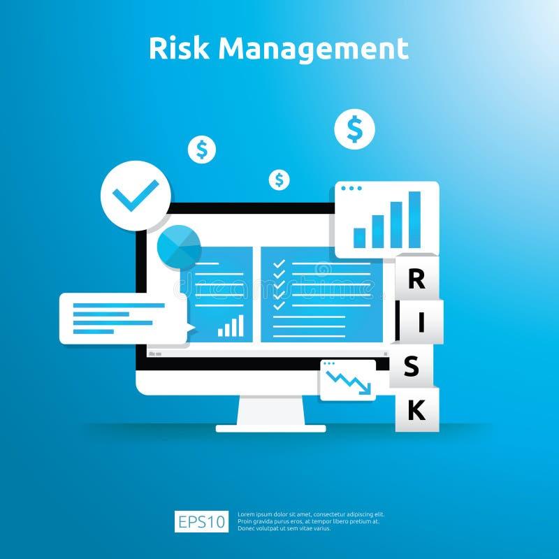 风险管理和财政辨认 在事务的评估和挑战防止的保护 公司性能分析 皇族释放例证