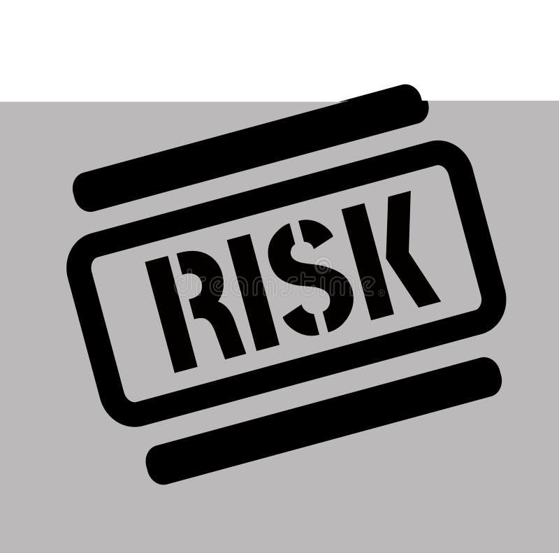 风险黑色邮票 向量例证