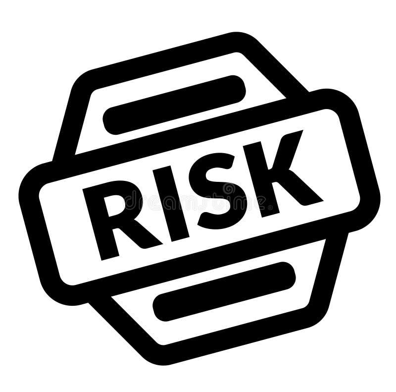 风险黑色邮票 库存例证
