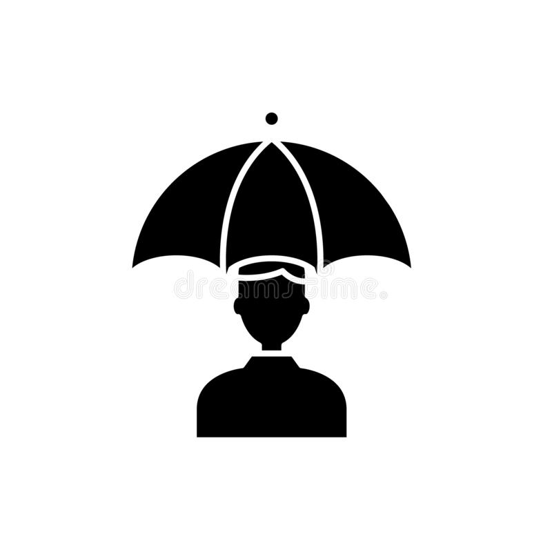风险黑象,在被隔绝的背景的传染媒介标志的管理 风险概念标志,例证的管理 向量例证