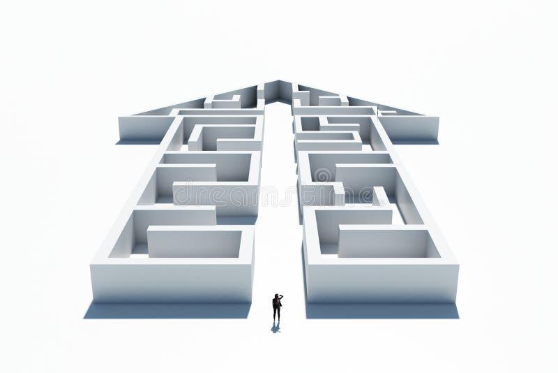 风险,挑战和认为概念 库存例证