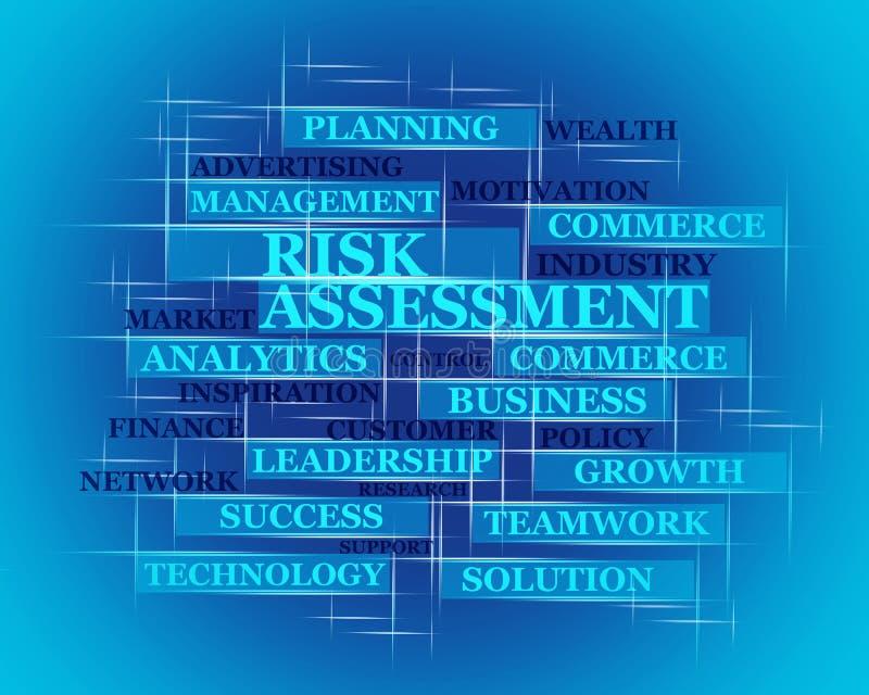 风险,评估词概念 向量例证