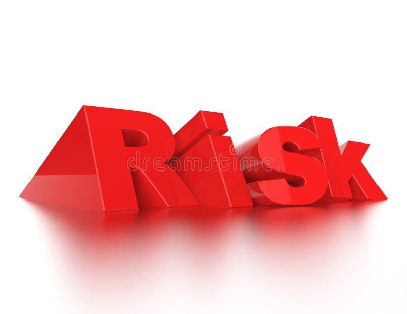风险3d词概念 库存例证