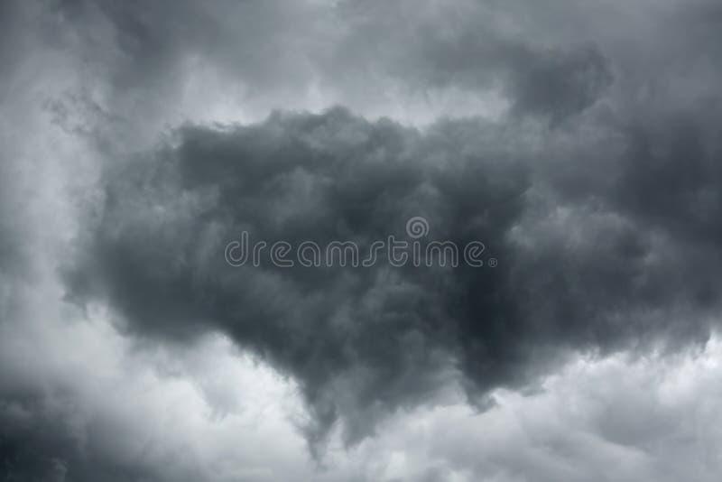 风雨如磐严重的天空 库存图片