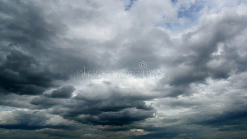 风雨如磐的云彩 风暴来临 图库摄影