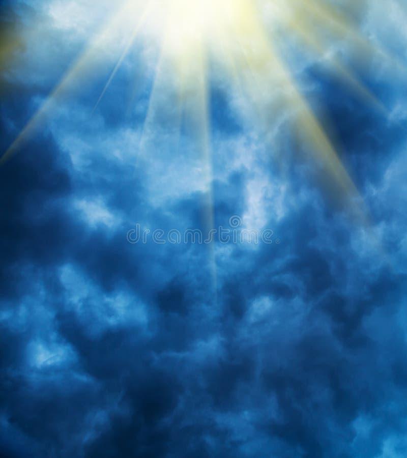 风雨如磐的云彩 库存照片