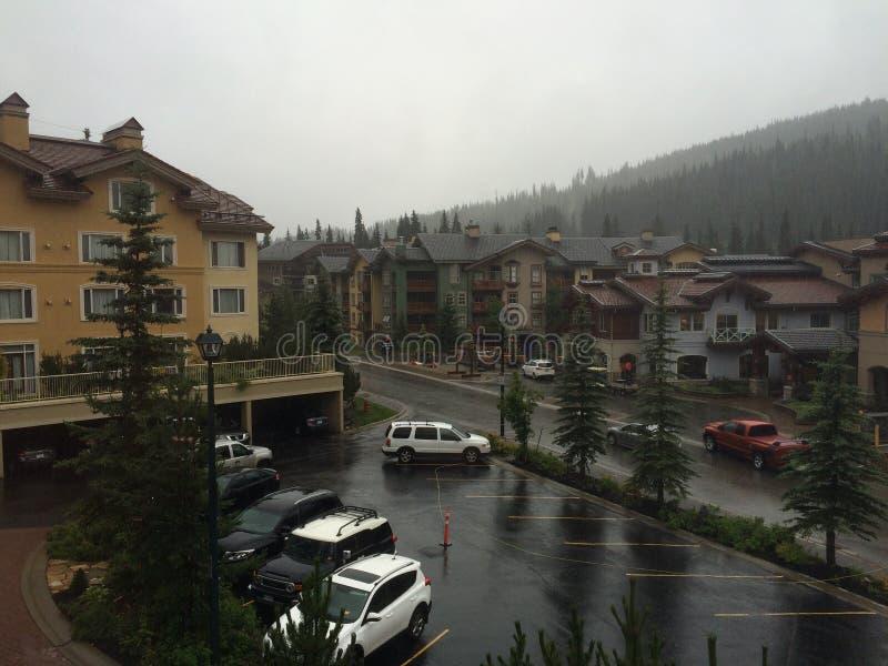 风雨如磐的坎卢普斯手段天气 免版税库存图片